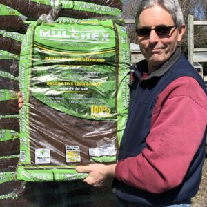 All Natural Cedar Mulch-Brown color, 2cu.ft. bags