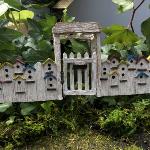 Bird House Fence with Gate