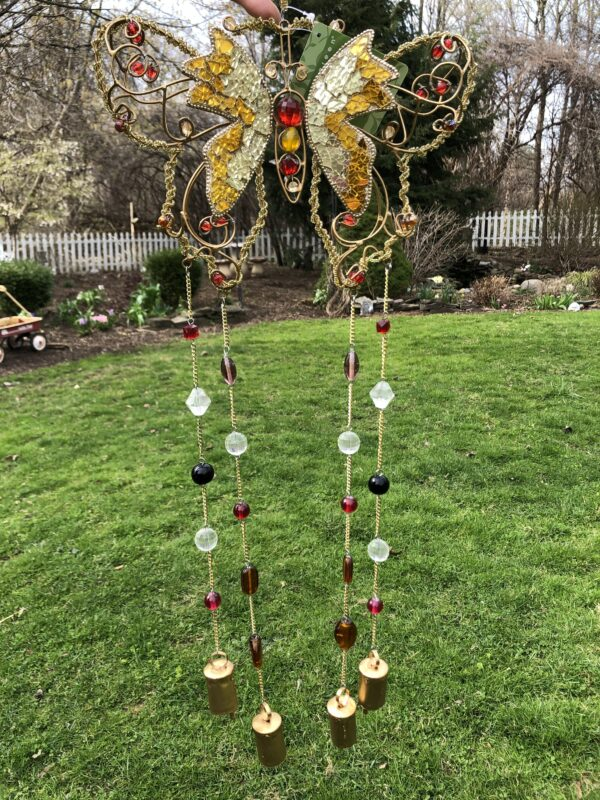 Beaded Glass and Metal Wind Chime