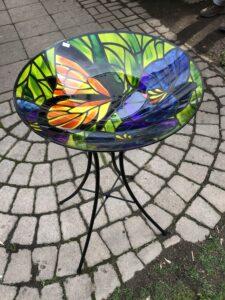 Butterfly Birdbath with stand