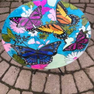 Butterflies Birdbath with stand